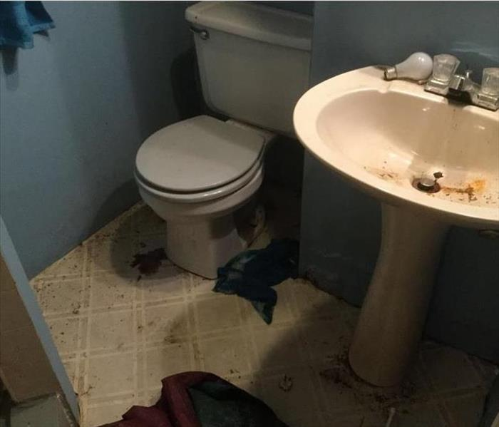 water damage in bathroom