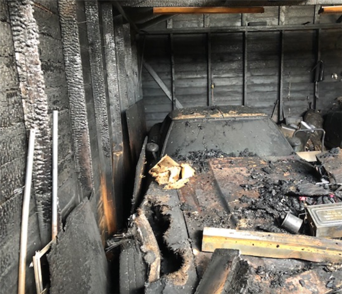 fire damage in garage