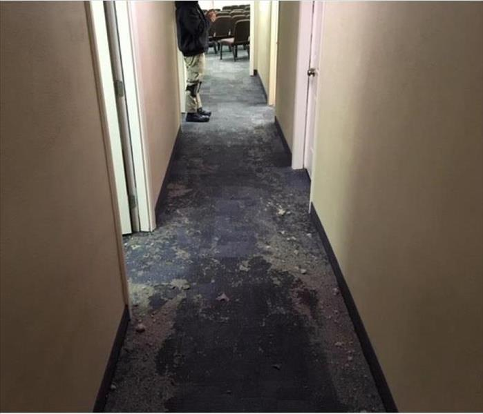 sewage loss at church