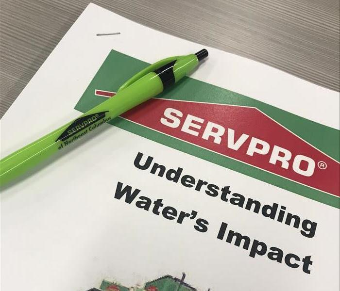 SERVPRO CE booklet on water impact