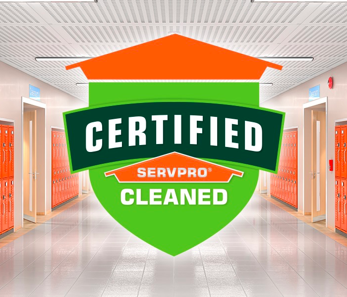 certified servpro cleaned logo