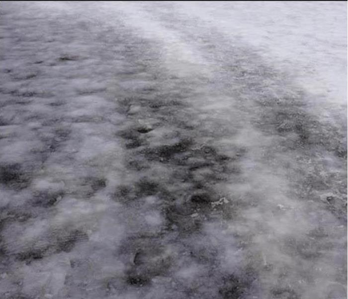 ice on driveway